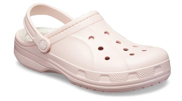 Crocs Cotton Candy / Oatmeal Ralen Fuzz Lined Clog Shoes