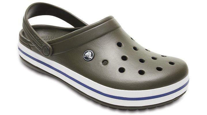 Crocs Dark Camo Green/Stucco Crocband™ Clog Shoes