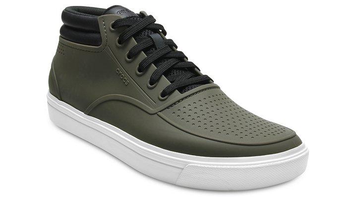 Crocs Dark Camo Green/White Men's Citilane Roka Chukka Shoes