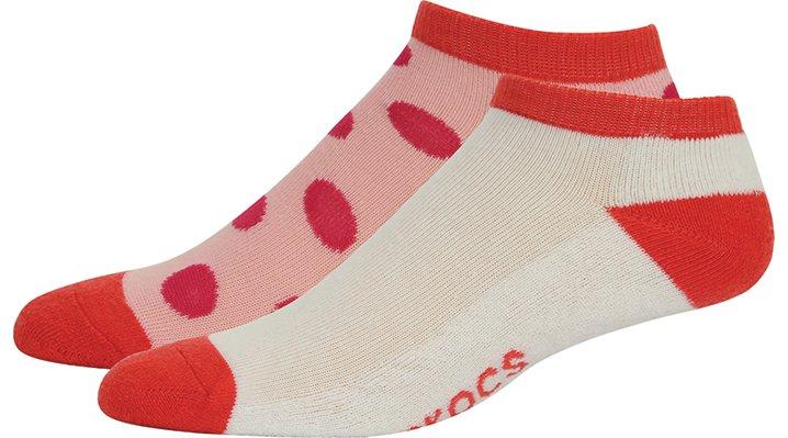 Crocs Dots Adults' Low Fashion Socks 2-Pack Shoes