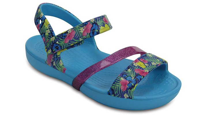 Crocs Electric Blue Kids' Crocs Lina Sandals Shoes