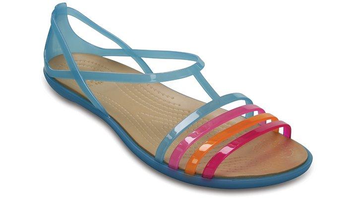 Crocs Electric Blue / Gold Women'S Crocs Isabella Sandal Shoes