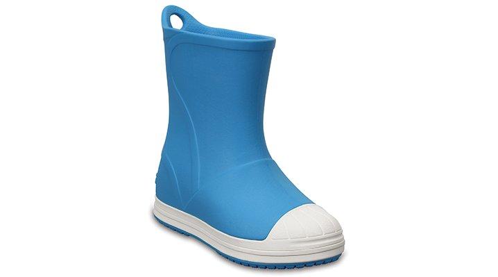 Crocs Electric Blue / Oyster Kids' Crocs Bump It Rain Boot Shoes
