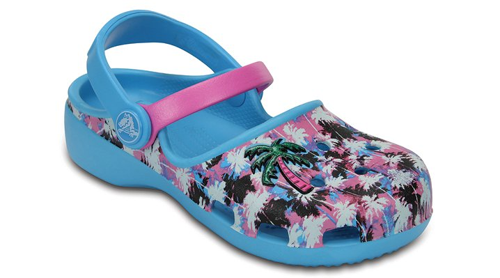 Crocs Electric Blue / Party Pink Kids' Crocs Karin Novelty Clogs Shoes