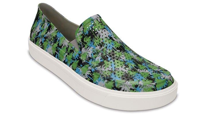 Crocs Electric Blue / White Men's Citilane Roka Tropical Slip-Ons Shoes