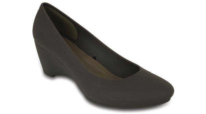 Crocs Espresso Women'S Crocs Lina Wedge Shoes