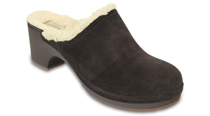 Crocs Espresso Women'S Crocs Sarah Fuzz Lined Clog Shoes