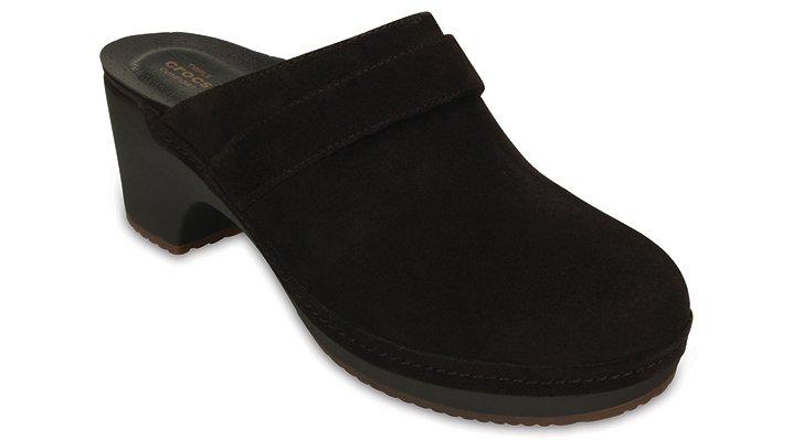 Crocs Espresso Women'S Crocs Sarah Suede Clog Shoes