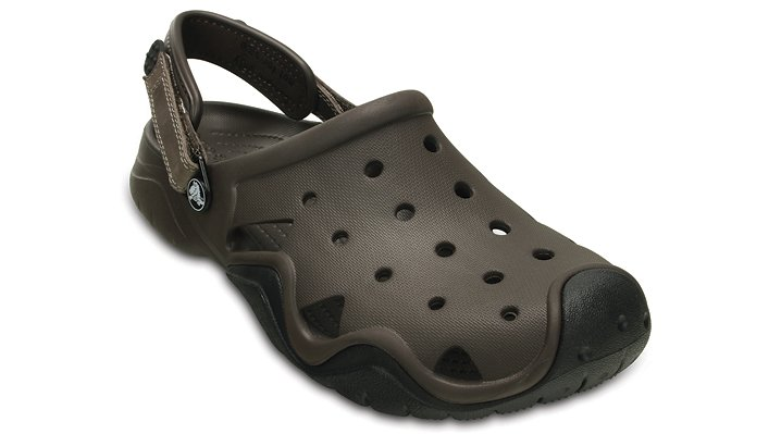 Crocs Espresso / Black Men'S Swiftwater Clog Shoes