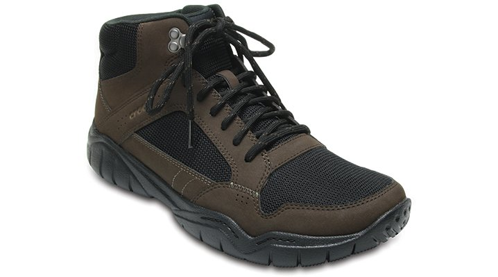 Crocs Espresso / Black Men's Swiftwater Hiker Mid Shoes