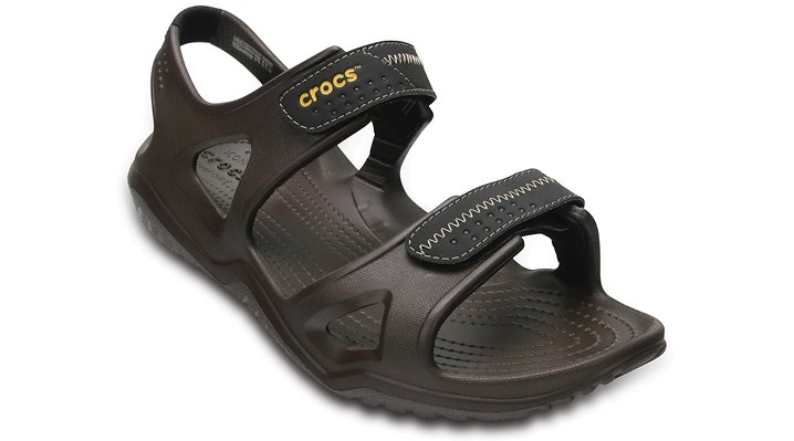 Crocs Espresso / Black Men's Swiftwater River Sandals Shoes