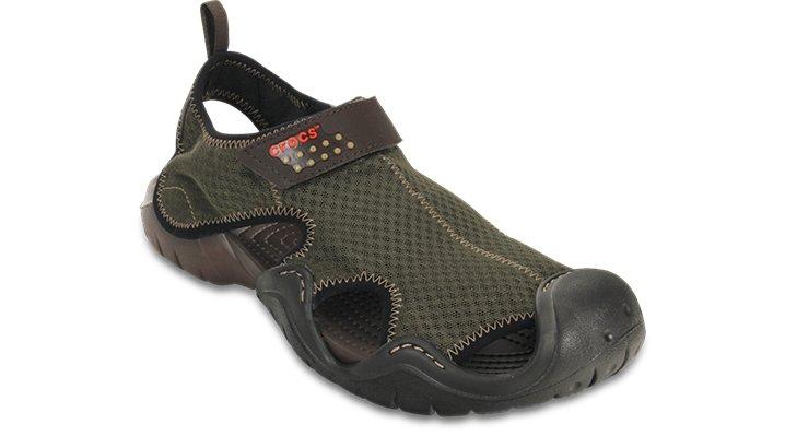 Crocs Espresso / Espresso Men'S Swiftwater Sandal Shoes