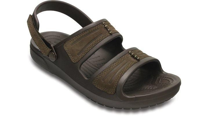 Crocs Espresso / Espresso Men's Yukon Mesa Sandals Shoes