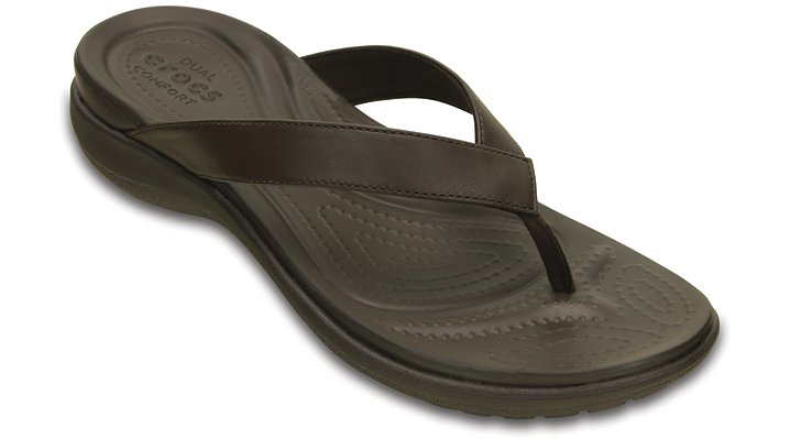 Crocs Espresso / Espresso Women'S Capri V Flip Shoes