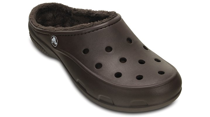 Crocs Espresso / Espresso Women's Crocs Freesail Fuzz Lined Clog Shoes