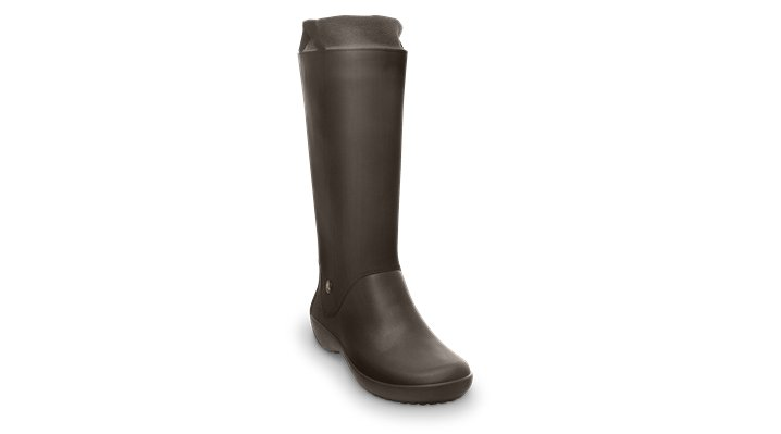 Crocs Espresso / Espresso Women's Rainfloe Boot Women's Fluid Rubber Rain Boots