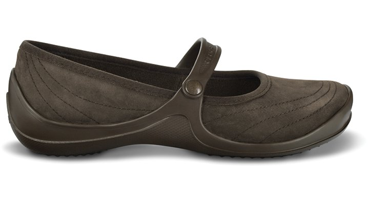 Crocs Espresso / Espresso Wrapped Mary Jane Woman's Comfortable Flats