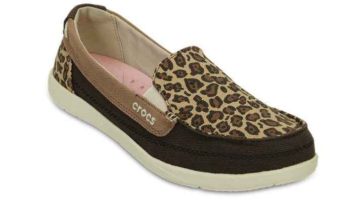 Crocs Espresso / Gold Women'S Walu Wild Graphic Loafer Shoes