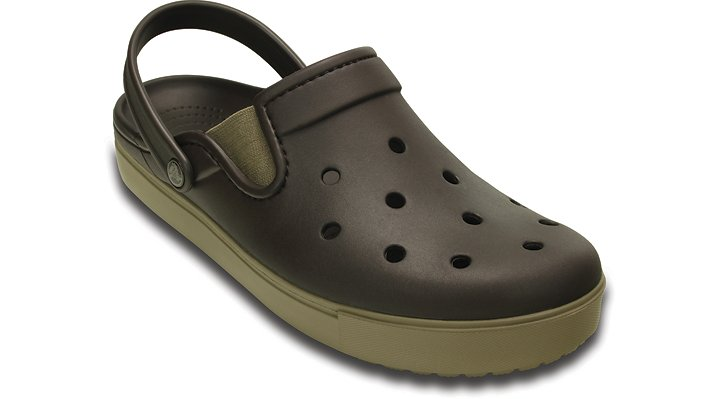 Crocs Espresso / Khaki Citilane Clog Shoes