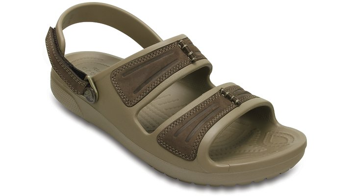 Crocs Espresso / Khaki Men's Yukon Mesa Sandals Shoes