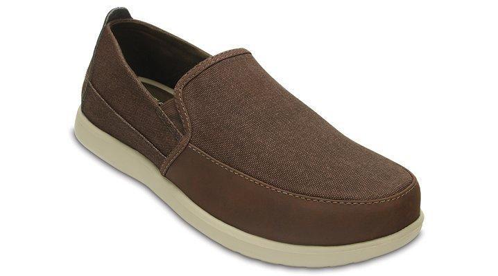 Crocs Espresso / Mushroom Men's Santa Cruz Deluxe Slip-Ons Shoes