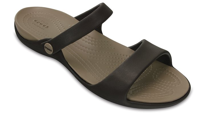 Crocs Espresso / Mushroom Women's Cleo V Sandals Shoes