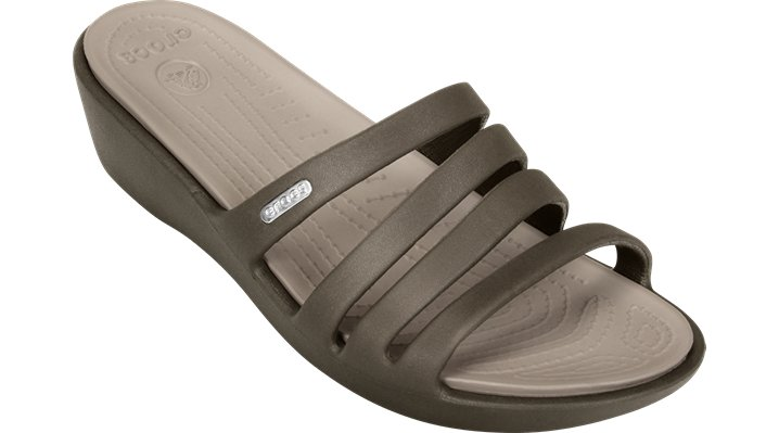 Crocs Espresso / Mushroom Women's Rhonda Wedge Shoes $ 39.99