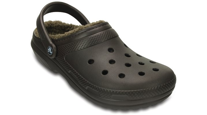 Crocs Espresso / Walnut Classic Fuzz Lined Clog Shoes