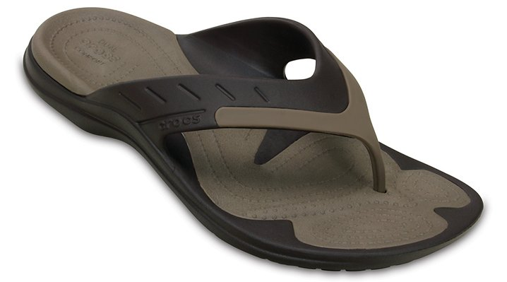 Crocs Espresso / Walnut Modi Sport Flip Shoes