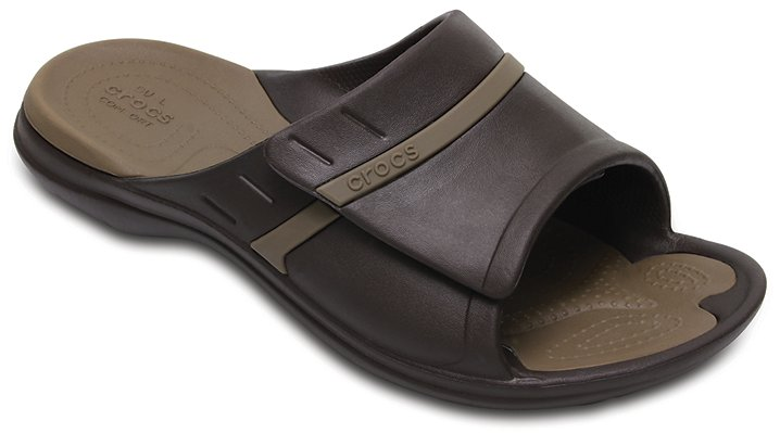 Crocs Espresso / Walnut Modi Sport Slides Shoes