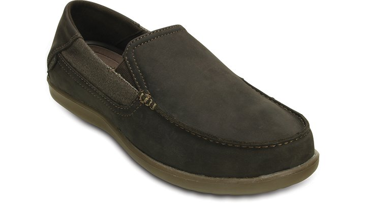 Crocs Espresso / Walnut Men'S Santa Cruz 2 Luxe Leather Loafer Shoes