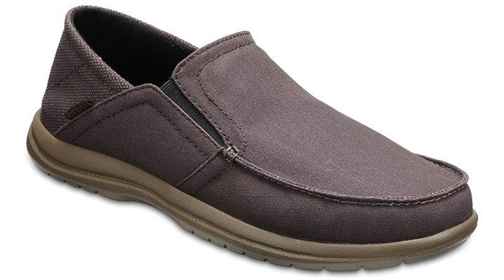 Crocs Espresso / Walnut Men's Santa Cruz Convertible Slip-Ons Shoes