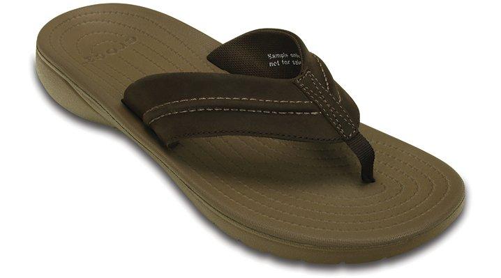 Crocs Espresso / Walnut Yukon Mesa Flip Shoes