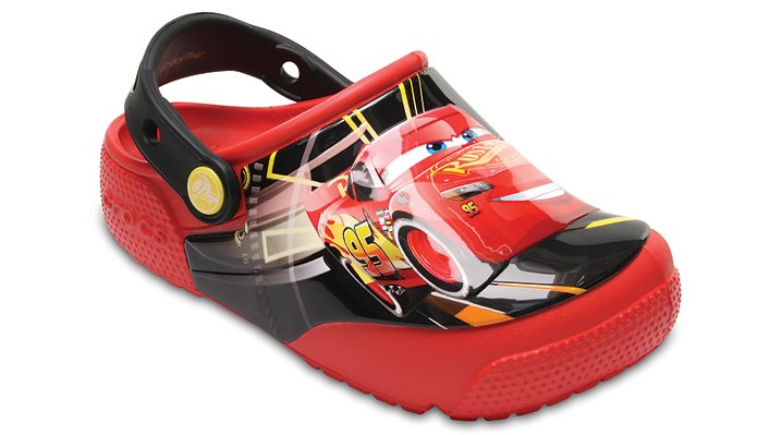 Crocs Flame Kids' Crocs Fun Lab Lights Cars™ 3 Clog Shoes