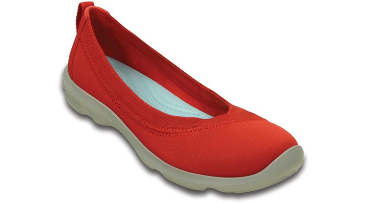 Crocs Flame Women's Busy Day Stretch Flat Shoes