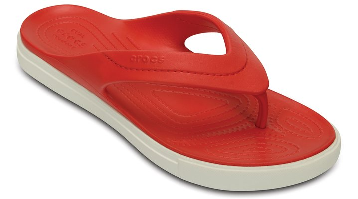 Crocs Flame / White Citilane Flip Shoes
