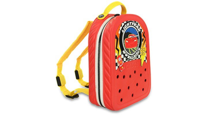 Crocs Flame / Yellow Crocslights Cars™ Lights Backpack Shoes