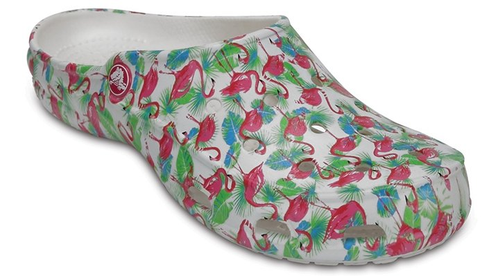 Crocs Flamingo Women's Crocs Freesail Summer Fun Clog Shoes
