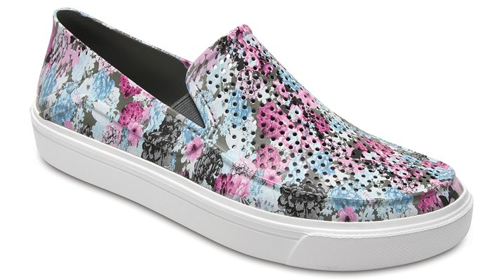 Crocs Floral/Cashmere Rose Women's Citilane Roka Graphic Slip-Ons Shoes