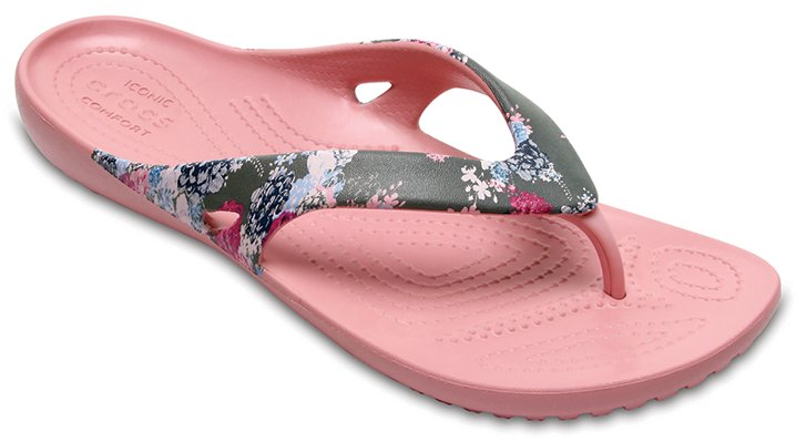 Crocs Floral/Cashmere Rose Women's Kadee Ii Graphic Flip Shoes