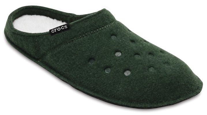 Crocs Forest Green/Oatmeal Classic Slipper Shoes