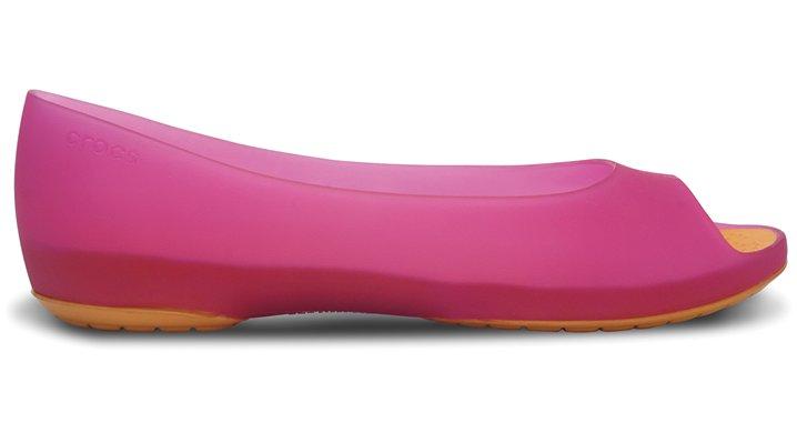 Crocs Fuchsia / Mango Crocs Carlie Flat Women's Comfortable Flats