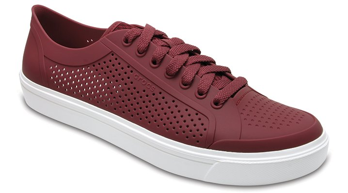 Crocs Garnet/White Men's Citilane Roka Court Shoes