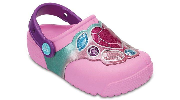 Crocs Gems / Carnation Kids' Crocs Fun Lab Lights Clogs Shoes