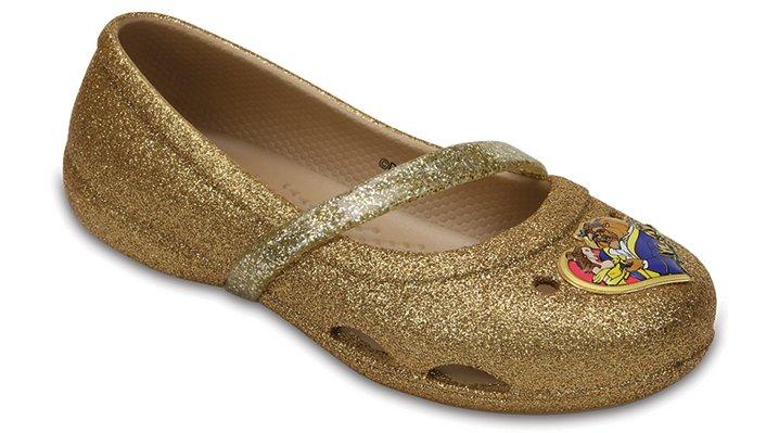 Crocs Gold Kids' Crocs Lina Beauty And The Beast™ Flats Shoes