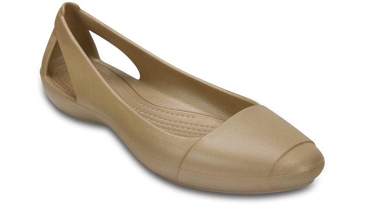 Crocs Gold Women'S Crocs Sienna Flat Shoes