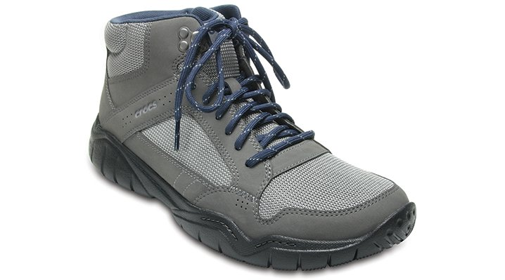 Crocs Graphite / Black Men's Swiftwater Hiker Mid Shoes
