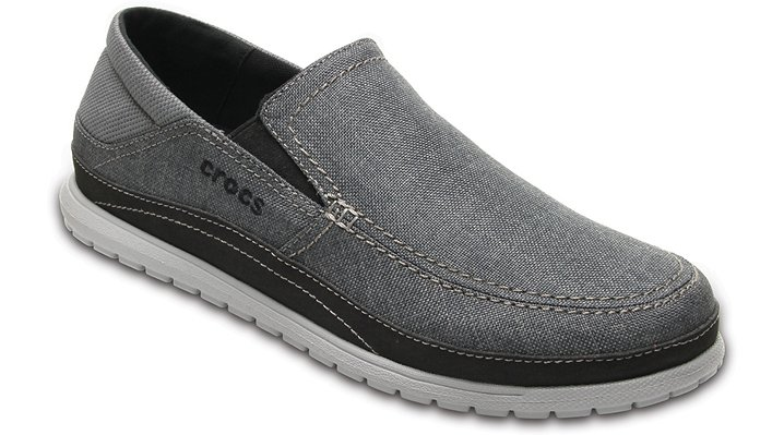 Crocs Graphite / Light Grey Men's Santa Cruz Playa Slip-On Shoes