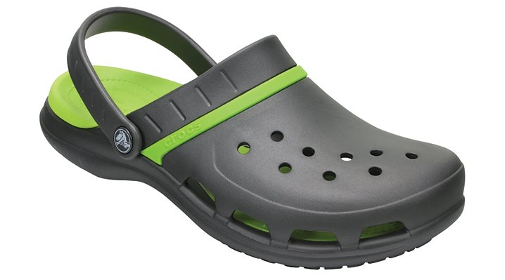 Crocs Graphite / Volt Green Modi Sport Clogs Shoes