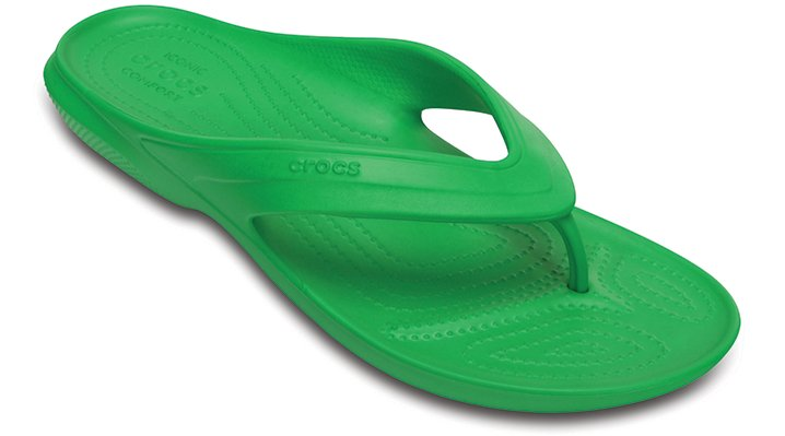 Crocs Grass Green Classic Flip Shoes